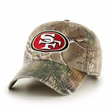 size 40 bc856 78ddb San Francisco 49ers  47 Brand Realtree Clean Up Adjustable Hat