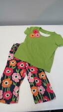 Gymboree Blooming Nautical Floral Capris & Green Shirt Size 5 EUC TL64