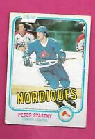1981-82 OPC # 269 NORDIQUES PETER STASTNY ROOKIE FAIR CARD (INV# C8279)