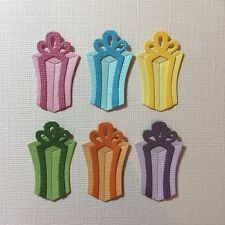 6 TALL PRESENT EMBELLISHMENT SCRAPBOOKING DIE CUTS FULLY ASSEMBLED GIFT