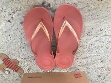 Fit Flop Flip Flops BNWB - Iqushion Rose Gold Mirror - Size UK 5