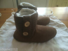 ladies coolers slipper boots sizes 3/4 5/6 7/8 free postage girls boys new