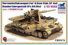 1/35 BRONCO 35174 Grille Versuchsflakwagen 8.8cm Flak 37 auf Sonderfahrgestell