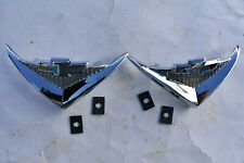 55 1955 Chevy Chevrolet Under Taillight New V8 Vee Emblems, Belair, 210, Nomads