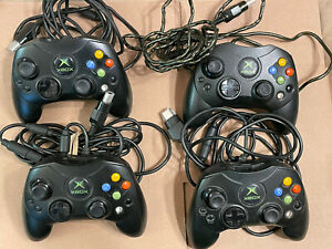 Microsoft Xbox (Original) OEM S Controller Lot (4) Tested And Working!