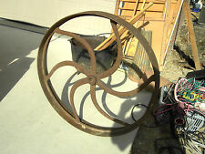 Antique Cast Iron Wheel Very Large Flat Belt Pulley Steam Hit Miss Engine Tracto