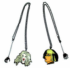 "LADY GAGA 2 PC BLK CHAIN NECKLACE SET ""BORN THIS WAY"" & ""EDGE OF GLORY"" NEW"