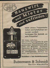 BERLIN, Werbung / Anzeige 1940, Buttermann & Schmidt BERPA Kontaktthermometer