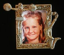 Cheerleader Sport Photo Pin Add Photo to Personalize 24 Karat Gold Plate