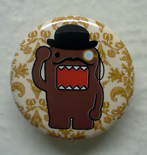 """BRAND NEW Mustache and Monocle Domo kun 1.25"""" Button Pin ~ Officially Licensed"""