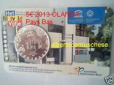 5 euro UNC 2013 Paesi Bassi pays bas Olanda Nederland Rietveld Schroderhuis casa