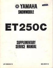 1978 YAMAHA SNOWMOBILE ET250C LIT-12618-00-14 SUPPLEMENT SERVICE MANUAL (435)