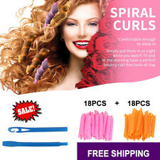 36pcs NEW Magic Curlers Short Hair DIY Leverage Spiral Styling Rollers No Heat