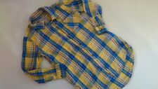 NICE NEXT CHECKED COTTON CASUAL OCCASION GIRL LONG SLEEVE SHIRT TUNIC 7 YRS