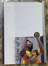 2000 UD SP Authentic Sign of the Times #KB Kobe Bryant Prototype Redemption Card
