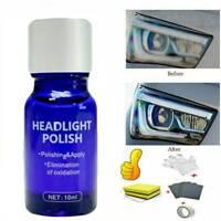 Car Headlight Lens Restoration System Repair Plastic Light Polishing Cleaner Kit