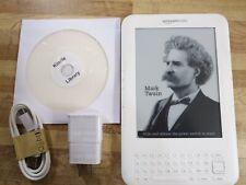 "Amazon Kindle Keyboard 3rd Gen-3G-Wi-Fi 6""- 1700 Books on CD--Bundle-Mint no ads"