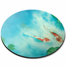 Round Mouse Mat - Japanese Koi Carp Fish Pond Office Gift #16426