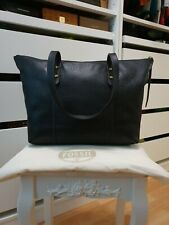 Original FOSSIL Tasche Leder Schultertasche Handtasche shopper bag Schwarz