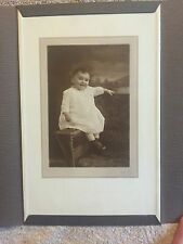 Vintage photo cute toddler with awful haircut baby 1918 Three Stooges-like