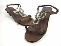 ANNIE SHOES, LIZZY SANDAL, BRONZE SATIN, WOMENS, US 7.5 WW, NEW WITHOUT THE BOX
