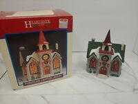 Hearthside Village Porcelain Lighted Church House Christmas Lemax 1999