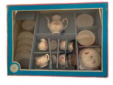 Children's Toy Porcelain Tea Dining Set Kahla Germany Vintage Floral Flowers