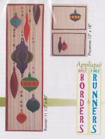 PATTERN - Ornaments - Christmas applique PATTERN - Pacific Rim Quilt Company