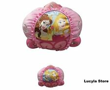 Disney Princess AWAY WE Carriage CUDDLE Pillow Aurora Belle Cinderella Rapunzel