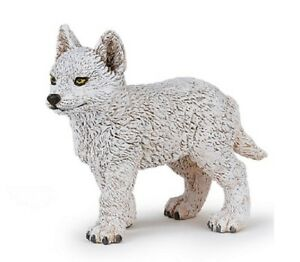 Papo 50228 Young Arctic Wolf 2 3/8in Wild Animals