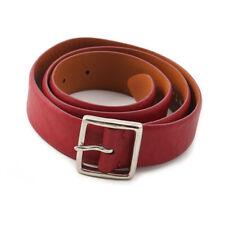 New $900 KITON Washed Crimson Red Smooth Calf Leather Belt 38 W (95cm)