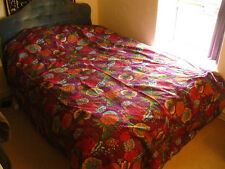 Indian Kantha Couvre-lit Couette Fleurs Violettes Tapestry Throw broderie double