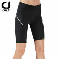 CHEJI Damen 3//4 Radhose Fahrradhose Radsport Shorts Cycling Shorts Sitzpolster