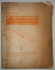 Massey Ferguson STRAW CHOPPER for 510 410 300 205 405 Combine Parts Catalog Book