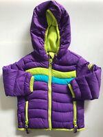 Snozu Girl's Fleece Lined Ultra Clean Down Puffer Jacket (PURPLE, 18M)