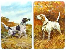 PAIR VINTAGE SWAP CARDS. POINTER & SETTER HUNTING DOGS. STARDUST USA. MINT COND