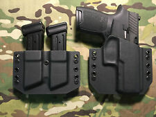 Black Kydex SIG P320 Compact Holster w/Dual Mag Carrier