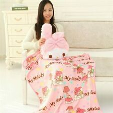 my melody fuzzy soft cushion pillow Blanket quilt warm gift cartoon new