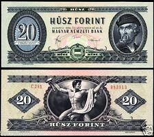 HUNGARY 20 FORINT 1980 P#169.g BANKNOTE MAGYAR UNGARN UNC