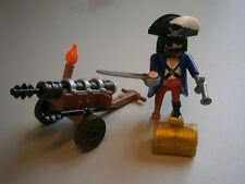 Playmobil * 1 x  Piraten-Kapitän Schatztruhe + Ritterkanone*Neu*Limitierte Figur