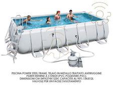 Bestway 56466 Schwimmbad cm 549x274x122h mit Rahmen Pumpe Filter & Leiter 14.812