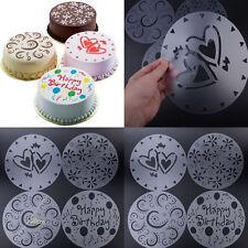 4 Stück Rund Torten Kuchen Deko Marzipan Kuchenschablone DIY Tortenpapier Backen