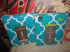J.C. PENNEY HOME EXPRESSIONS CAMDEN TURUOISE TRELLIS THERMAL LINED (2) PANELS