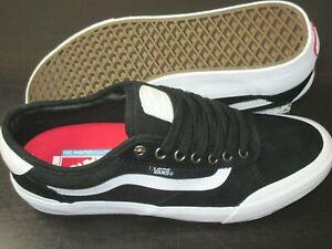 Vans Men's Chima Ferguson Pro 2 Canvas Suede Skate shoes Black White Size 10