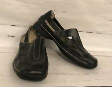Easy Spirit Women's Size 6 1/2 M Leather Black Slip On Shoes