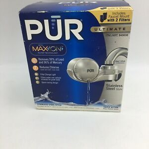 Pur Ultimate Chrome Faucet Water Filter with MAXION Technology Brand New
