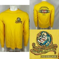 Harley Davidson Motorcycles Chillicothe Double Sided Long Sleeve Shirt Sz L USA