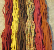 #6 RICH HARVEST MIX 150 Wool Strips for Primitive Rug Hooking