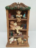 Russ Berries & Company Bears From The Past Item #1766 Bears Playing On Bookcase