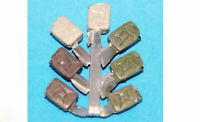 7 metal jerry fuel cans F303 UNPAINTED OO Scale Langley Models Kit 1/76 Scenery